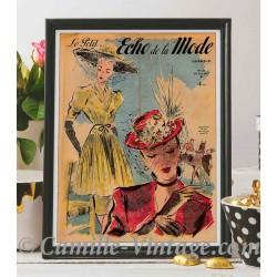 Poster Vintage Le Petit Echo de La Mode 29 June 1947
