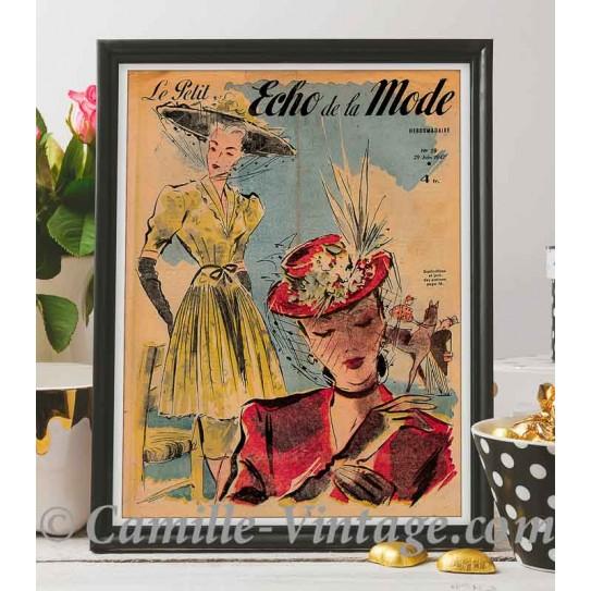 Affiche Le Petit Echo de La Mode 29 juin 1947
