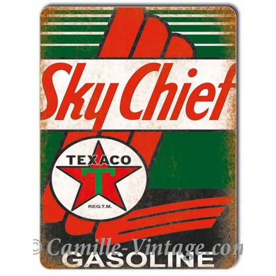 Plaque Aluminium Texaco Sky Chief