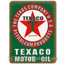 Plaque Aluminium Texaco Motor Oil