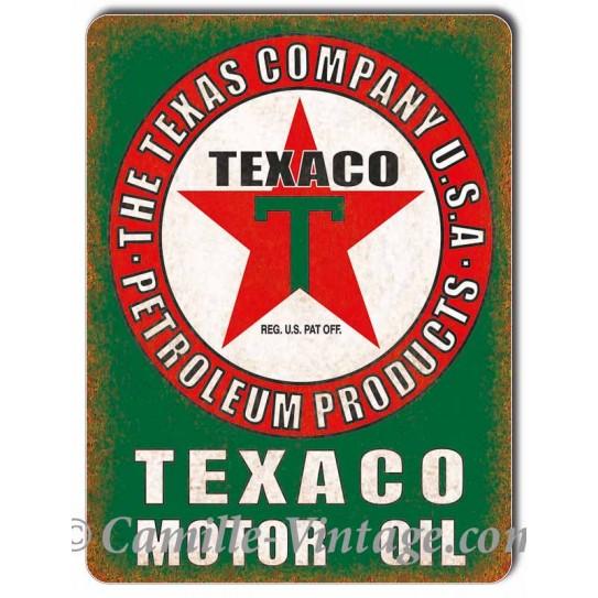 Plaque Aluminium Texaco Motor Oil