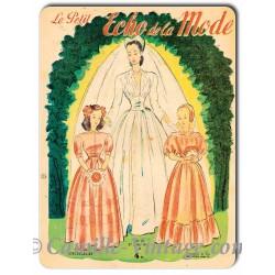 Plaque métal déco Le Petit Echo de La Mode 27 juillet 1947