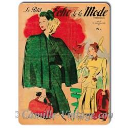 Plaque métal Le Petit Echo de La Mode 14 septembre 1947