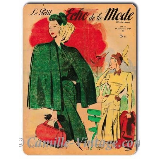 Metal plate deco Le Petit Echo de La Mode 14 September 1947