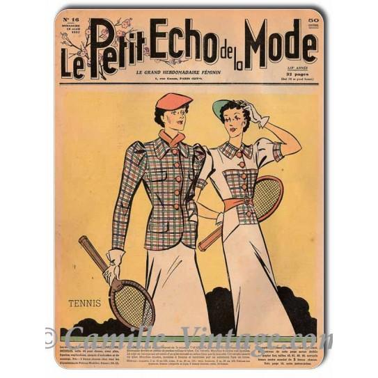 Plaque métal Le Petit Echo de La Mode 18 avril 1937