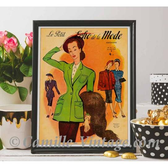Poster Vintage Le Petit Echo de La Mode 24 August 1947