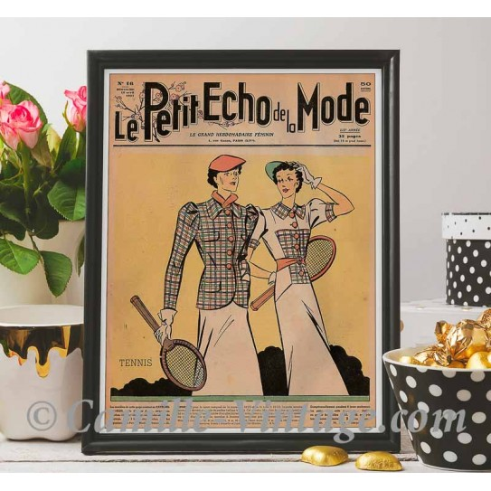 Poster Vintage Le Petit Echo de La Mode 18 April 1937