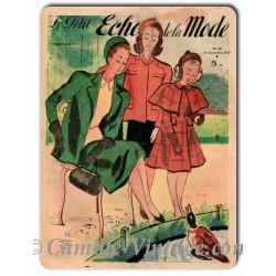 Plaque métal Le Petit Echo de La Mode 21 septembre 1947