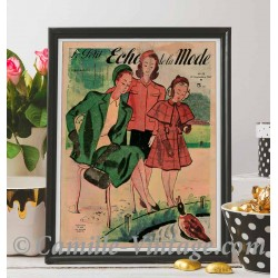 Poster Vintage Le Petit Echo de La Mode 21 September 1947