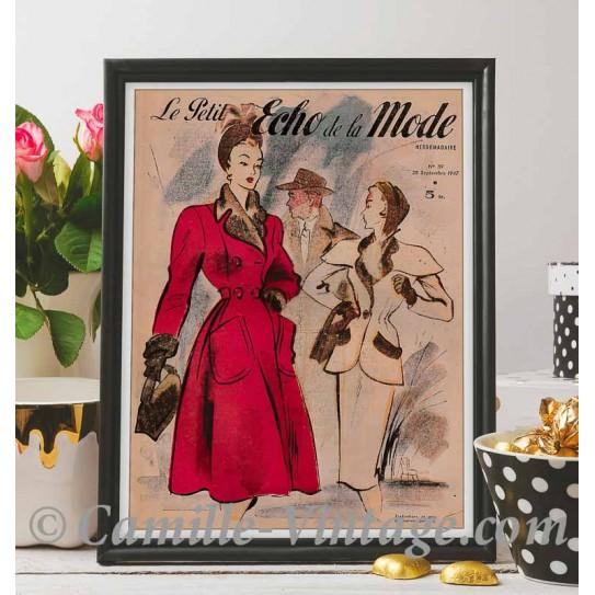 Affiche Le Petit Echo de La Mode 28 septembre 1947
