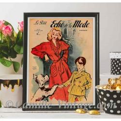 Poster Vintage Le Petit Echo de La Mode 2 November 1947