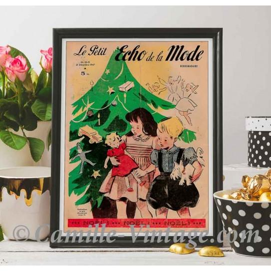 Poster Vintage Le Petit Echo de La Mode 21 December 1947