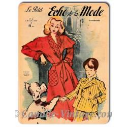 Plaque métal Le Petit Echo de La Mode 2 novembre 1947