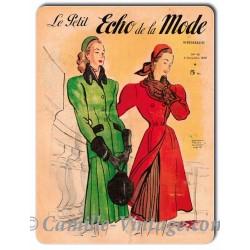 Metal plate deco Le Petit Echo de La Mode 9 November 1947