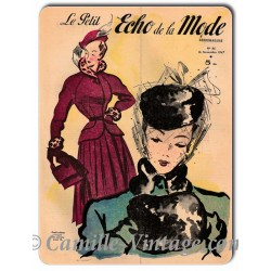 Plaque métal Le Petit Echo de La Mode 16 novembre 1947