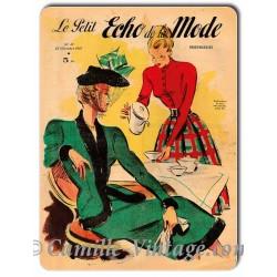 Plaque métal Le Petit Echo de La Mode 23 novembre 1947