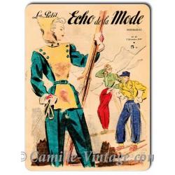Plaque métal Le Petit Echo de La Mode 7 décembre 1947