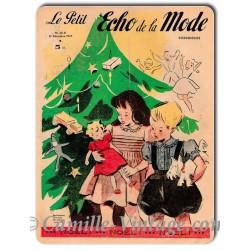 Plaque métal Le Petit Echo de La Mode 21 décembre 1947