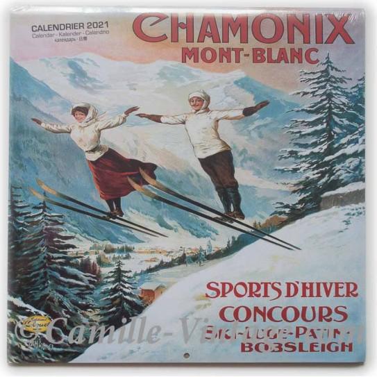 Calendrier Salon Vintage 2021 Calendar Chamonix 2020 2021 Camille Vintage Retro