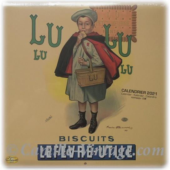 Calendrier Salon Vintage 2021 Calendar Biscuits LU petit écolier 2020 2021 Vintage Retro