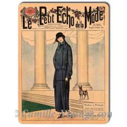 Plaque métal revue de mode vintage 18 février 1923