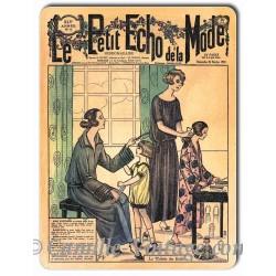 Plaque métal revue de mode vintage 25 février 1923