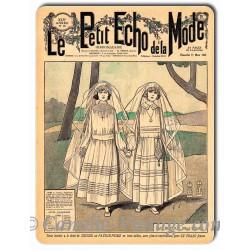 Plaque métal revue de mode vintage 11 mars 1923