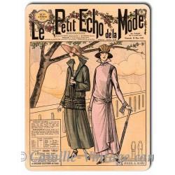 Plaque métal revue de mode vintage 18 mars 1923