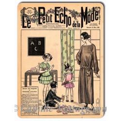 Plaque métal revue de mode vintage 25 mars 1923