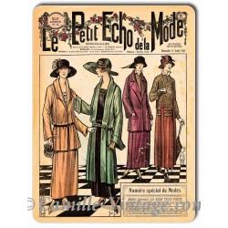 Plaque métal revue de mode vintage 1er avril 1923
