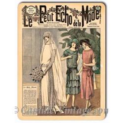 Plaque métal revue de mode vintage 15 avril 1923