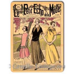 Plaque métal revue de mode vintage 22 avril 1923