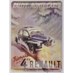 Tin signs Renault 4CV