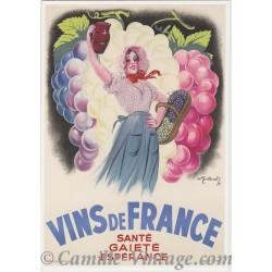 Carte Postale Vins de France