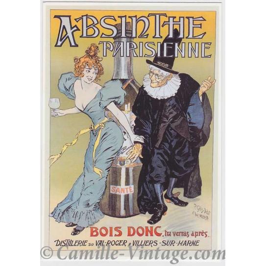 Postcard Absinthe Parisienne