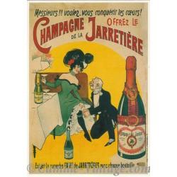 Postcard Champagne de La Jarretière