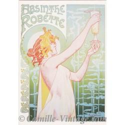 Postcard Absinthe Robette