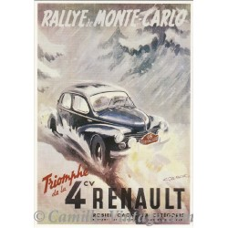 Carte Postale Renault 4 CV