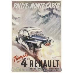 Postcard Renault 4 CV