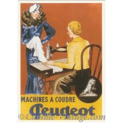 Carte Postale Machine à Coudre Peugeot