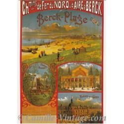 Carte Postale Chemins de Fer du Nord & d'Aire à Berck-Plage