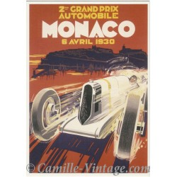 Postcard 2ème Grand Prix de Monaco 1930