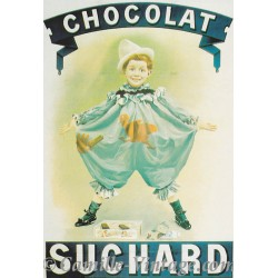Postcard Chocolat Suchard Pierrot