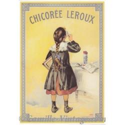 Postcard Chicorée Leroux Ecolière