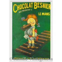 Postcard Chocolat Besnier