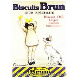 Postcard Biscuits Brun