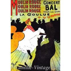 Postcard Moulin Rouge - La Goulue
