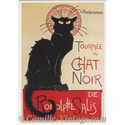 Carte Postale Tournée du Chat Noir de Rodolphe Salis