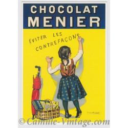 Postcard Chocolat Menier Dos