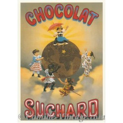 Carte Postale Chocolat Suchard Terre